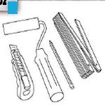 Werkzeuge zum Tapezieren