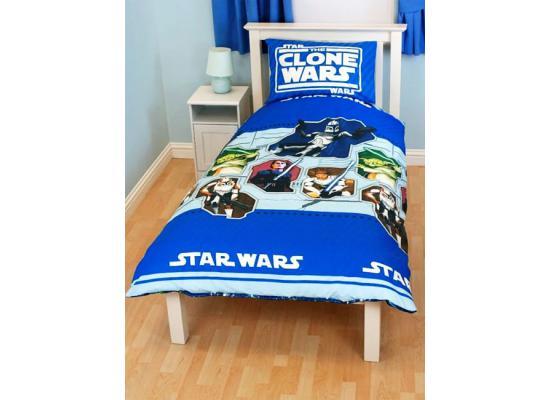 star wars clone wars mikrofaser bettw sche bettgarnitur. Black Bedroom Furniture Sets. Home Design Ideas