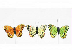 Feder-Schmetterlinge 12 Stück 6cm