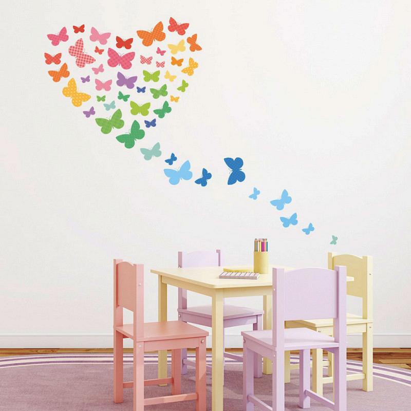 Wandsticker Schmetterlinge gemustert