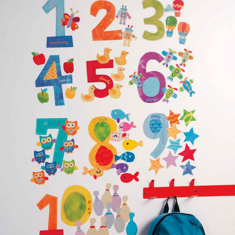 Wandsticker Wallplay Rechnen mit Zahlen