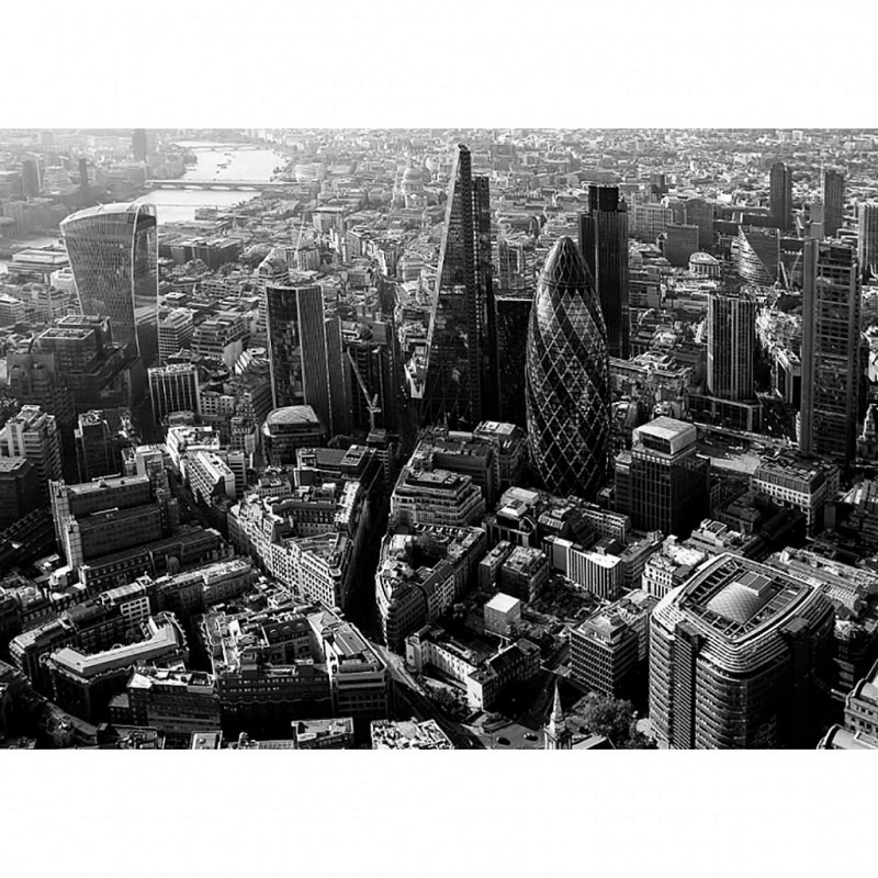 Fototapete London Themse Finanzzentrum