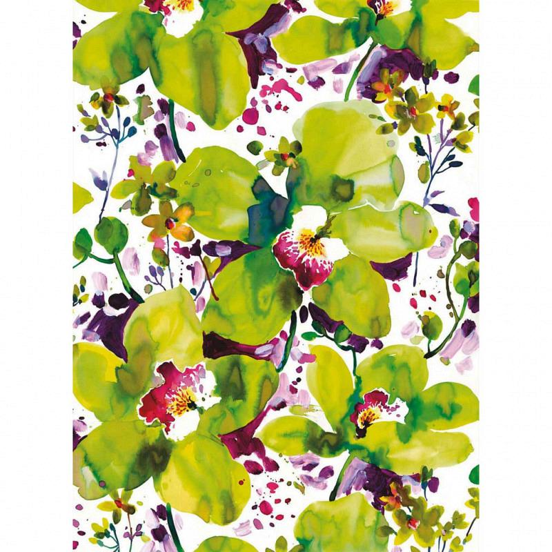 Fototapete Aquarell Blüte