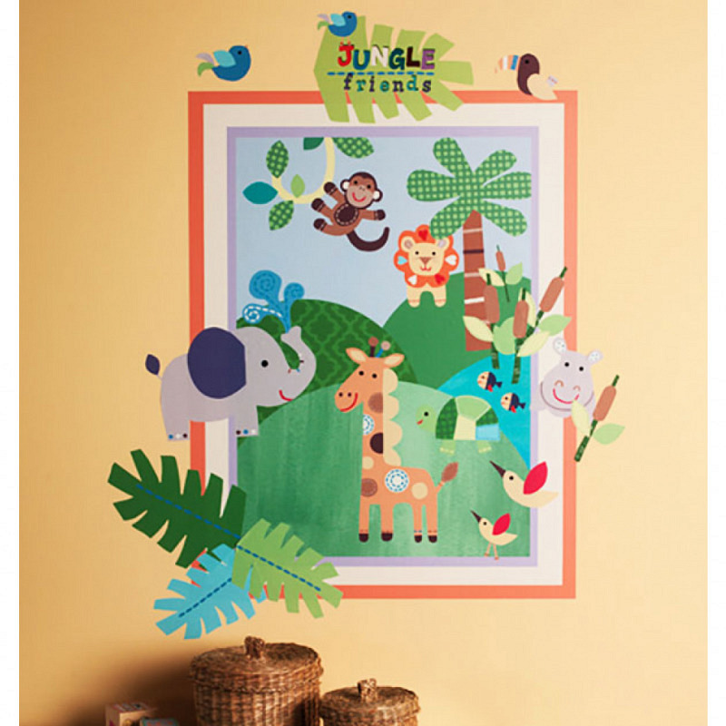 Wandsticker Wallplay Tiere des Dschungels