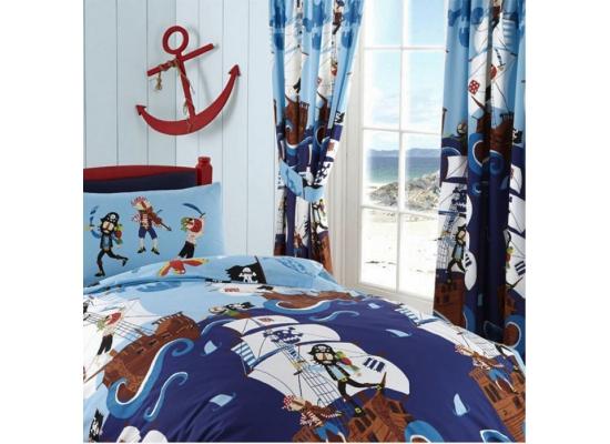 Kinderzimmer gardine piraten schiff konfektionsgardine 168 for Piraten kinderzimmer