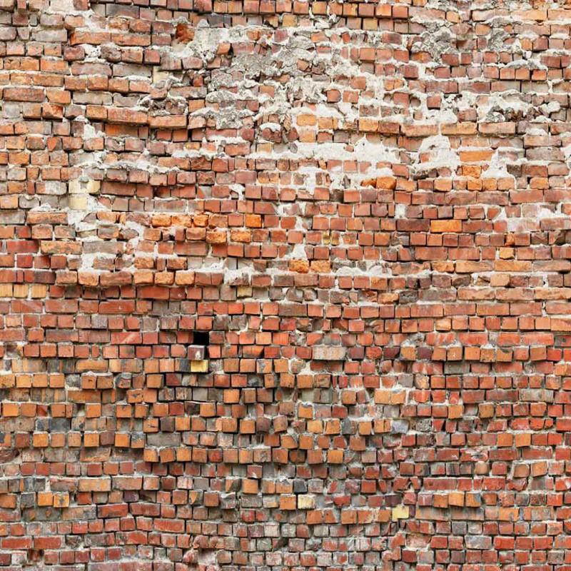 Vlies Fototapete rote Steinmauer