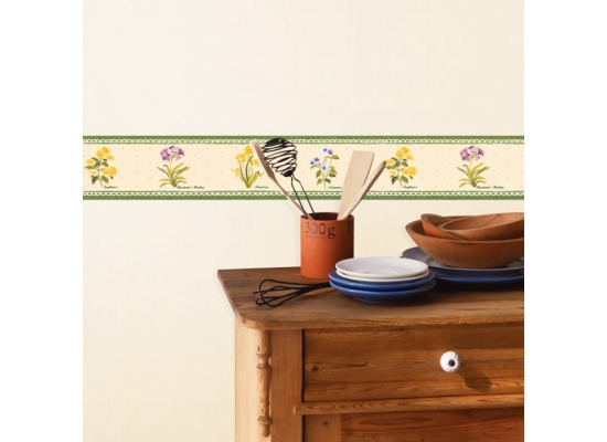 bord re tapeten borte selbstklebend blumengarten www 4. Black Bedroom Furniture Sets. Home Design Ideas