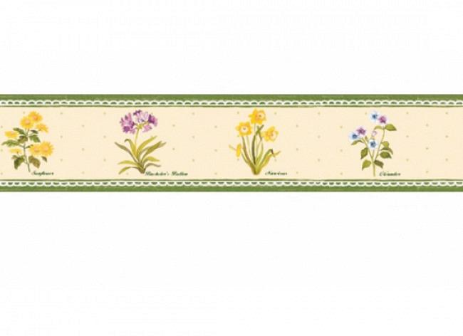 Bordüre Blumengarten