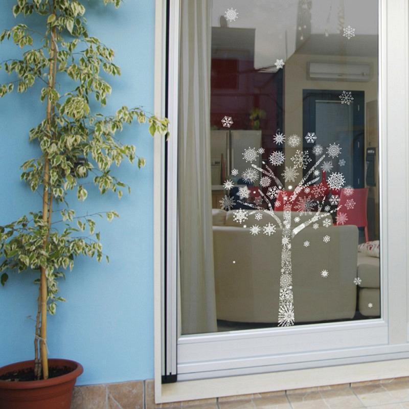 Wandsticker Schneeflocken-Baum