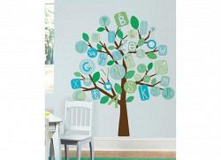 RoomMates Wandsticker Baum blaues Alphabet
