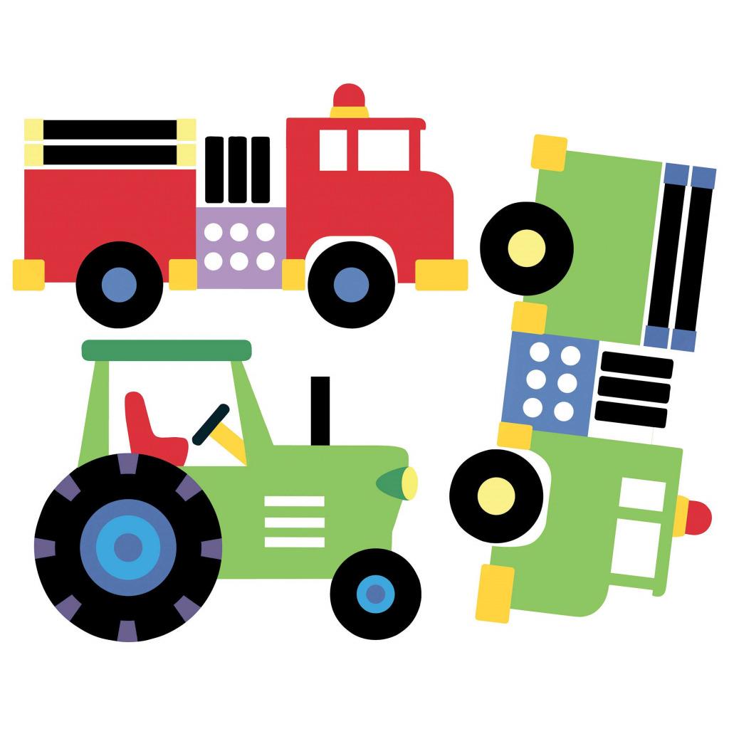 Wallies wandsticker wandaufkleber fahrzeuge autos loks lkw traktoren www 4 - Wandsticker feuerwehr ...