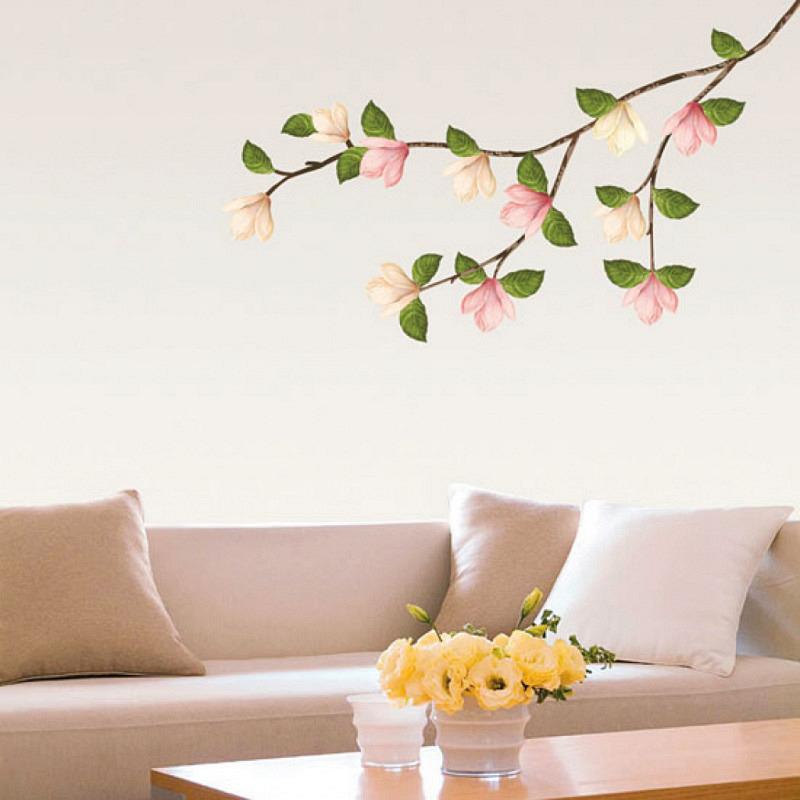 Wandtattoo Magnolien Blüten Zweig