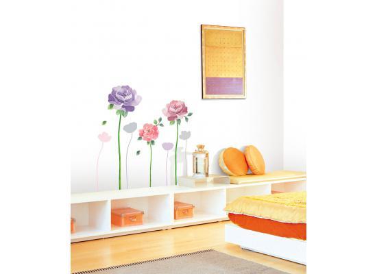 Wandsticker wandtattoo riesen rosen rose wohnzimmer for Zimmer deko rosen