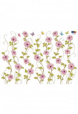 Wandsticker Blütenperlen pink