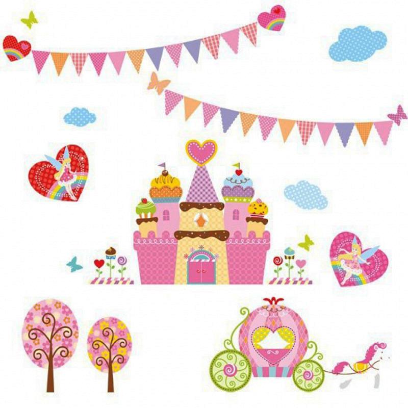 Wandsticker Süßigkeiten Schloss