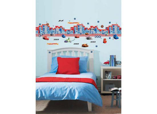kinderzimmer bord re disney pixar cars build a border 138 sticker tapeten borte ebay. Black Bedroom Furniture Sets. Home Design Ideas