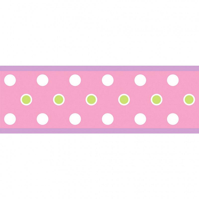 RoomMates Bordüre pink Punkte selbstklebend