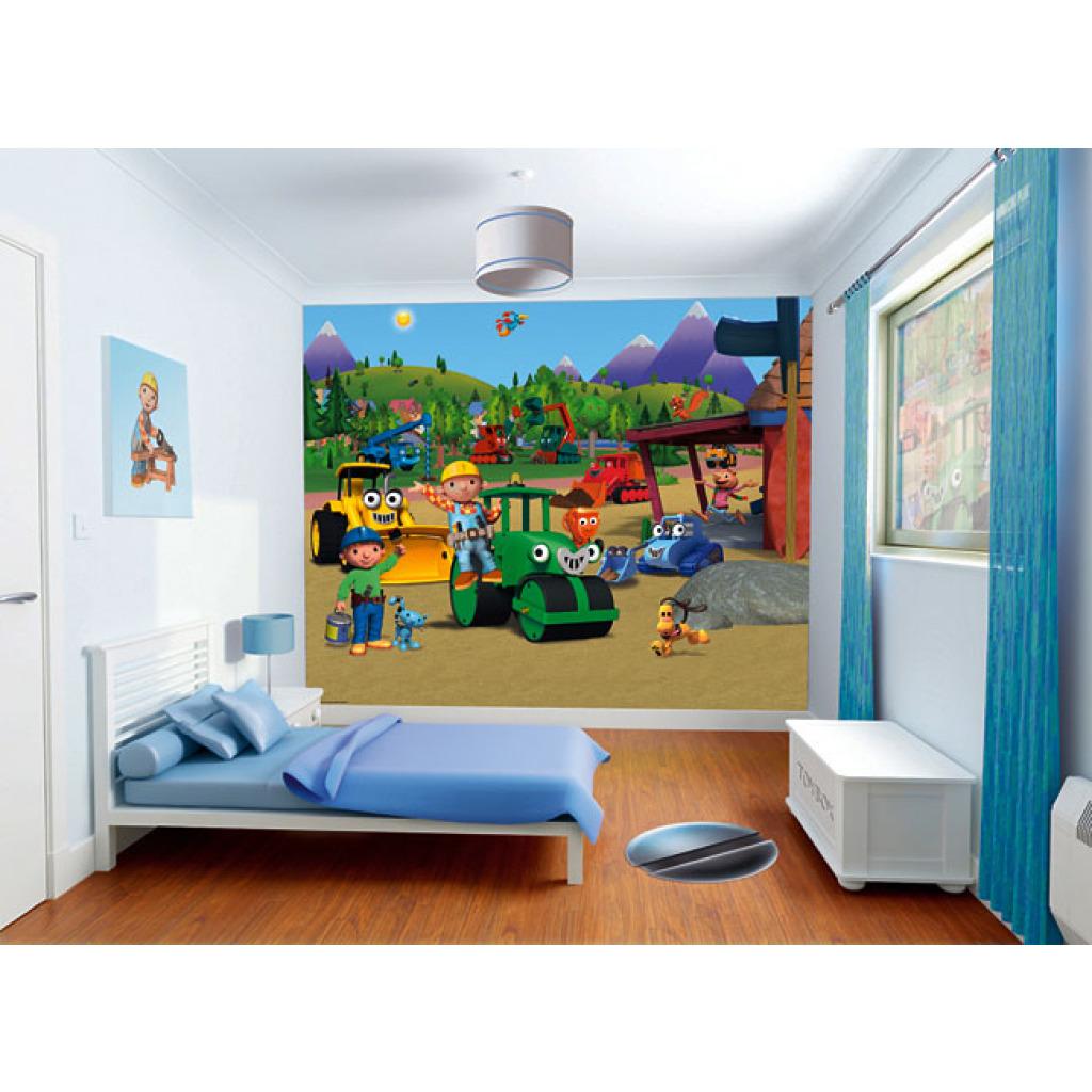 Walltastic fototapete kinderzimmer wandbild bob der - Kinderzimmer fototapete ...