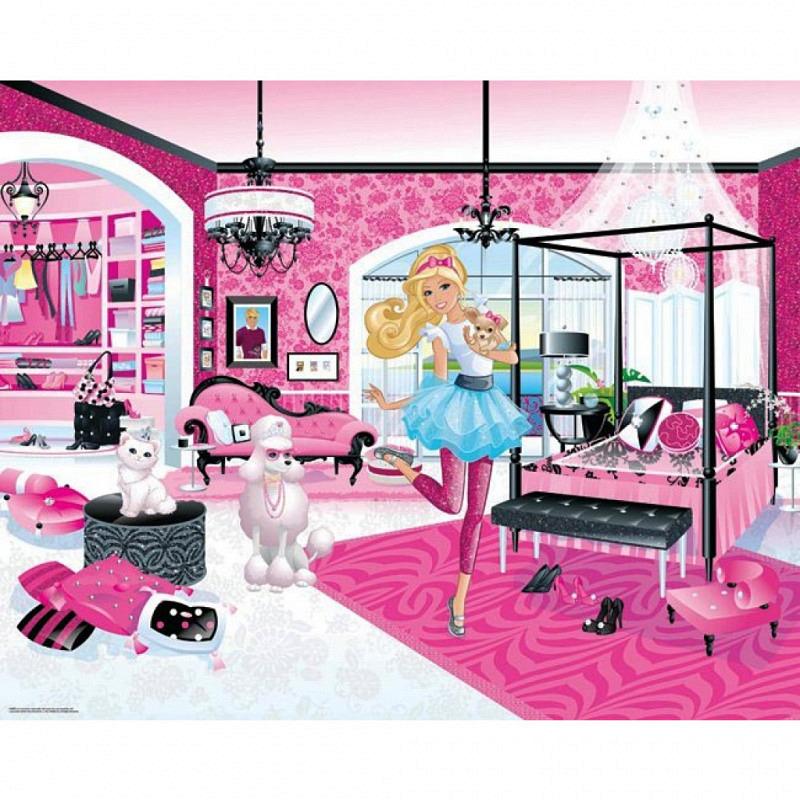 Fototapete Kinderzimmer Barbie Walltastic