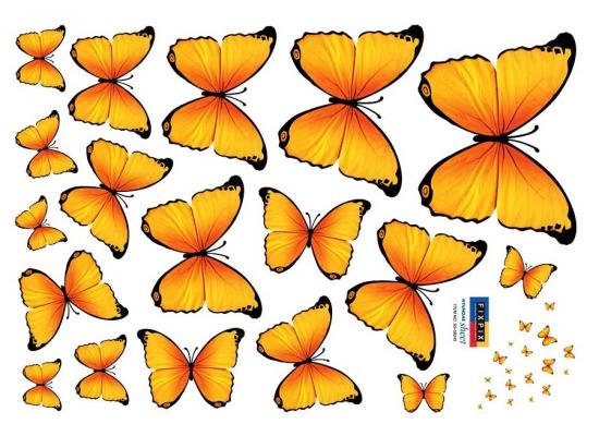 Wandtattoo Schmetterlinge in gelb