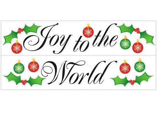 RoomMates Wandtattoo Wandaufkleber Wandbild Wandsticker Joy to the World
