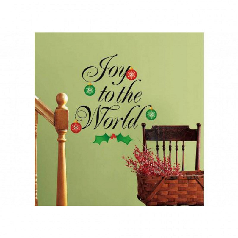 Wandsticker Weihnachten Joy to the World