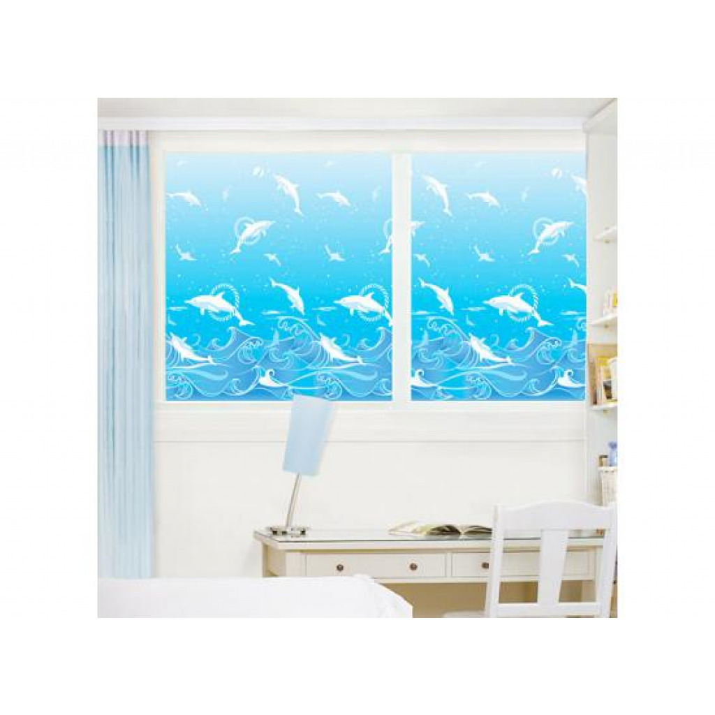 fensterfolie dekofolie sichtschutz selbstklebend delfin water world delfine frosteffekt www 4. Black Bedroom Furniture Sets. Home Design Ideas