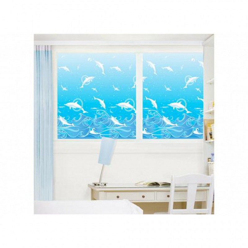 Fensterfolie selbstklebend Delfine Aquarium