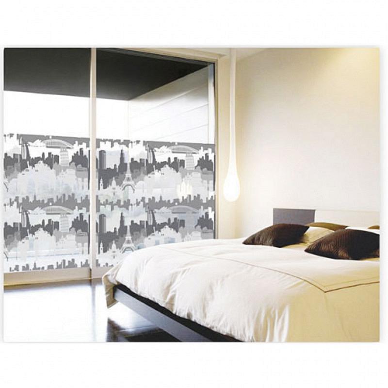Fensterfolie selbstklebend Cityline schwarz