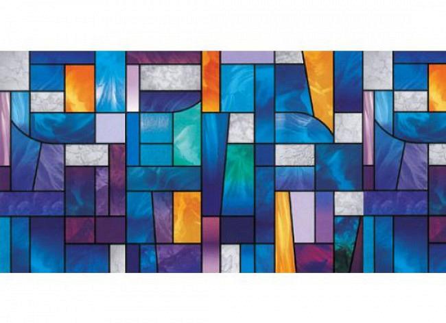 Fensterfolie selbstklebend Mosaik Glas farbig