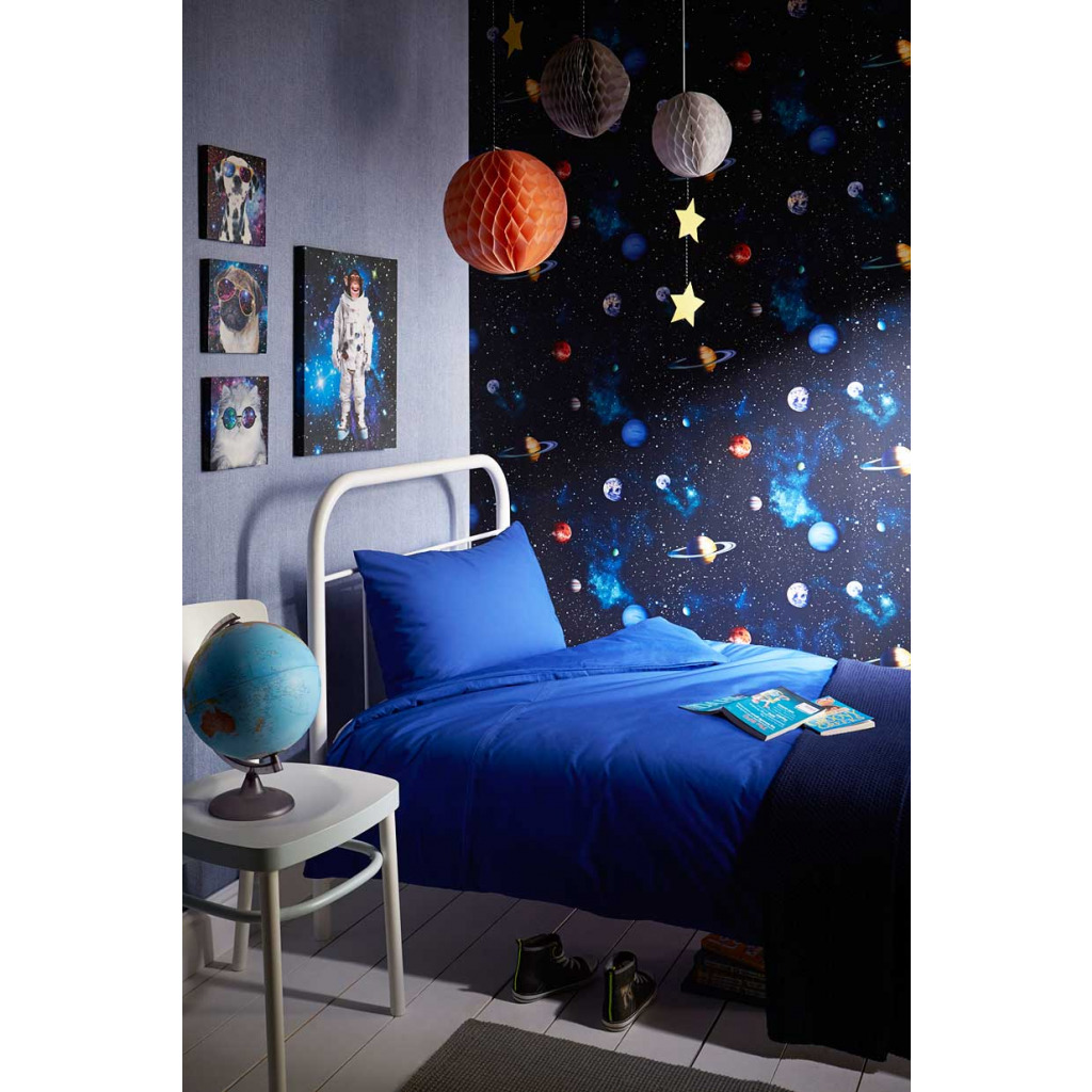 tapete planeten sterne sonnensystem weltraum 3d weltraum weltall kinderzimmer ebay. Black Bedroom Furniture Sets. Home Design Ideas