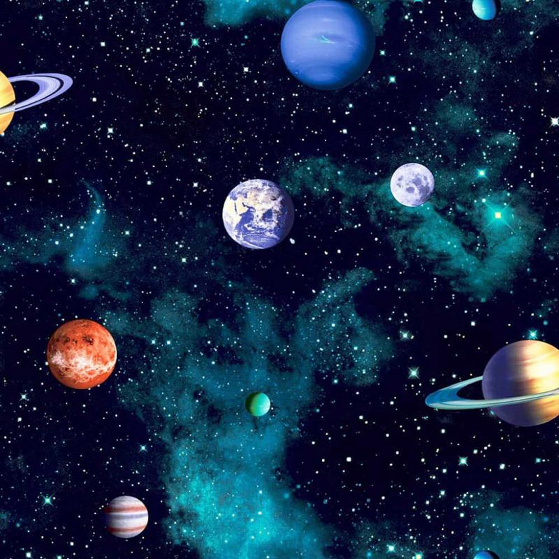 Tapete Planeten Sterne Sonnensystem 3D
