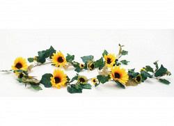 Sonnenblumengirlande große Blüten 200cm