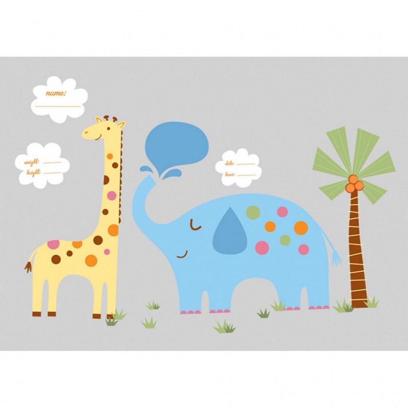 RoomMates Wandsticker Dschungeltiere Babyzimmer