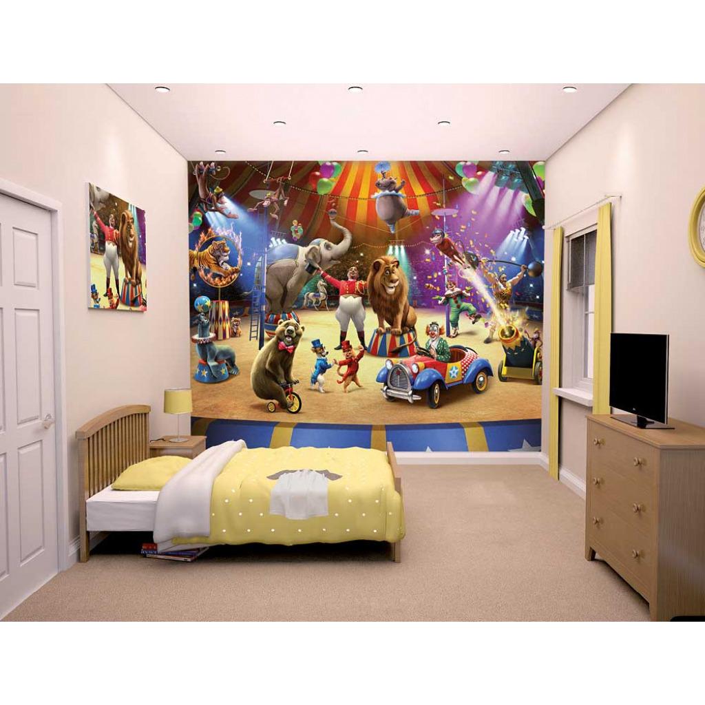 fototapete kinderzimmer zirkus tiere manege walltastic fototapete. Black Bedroom Furniture Sets. Home Design Ideas