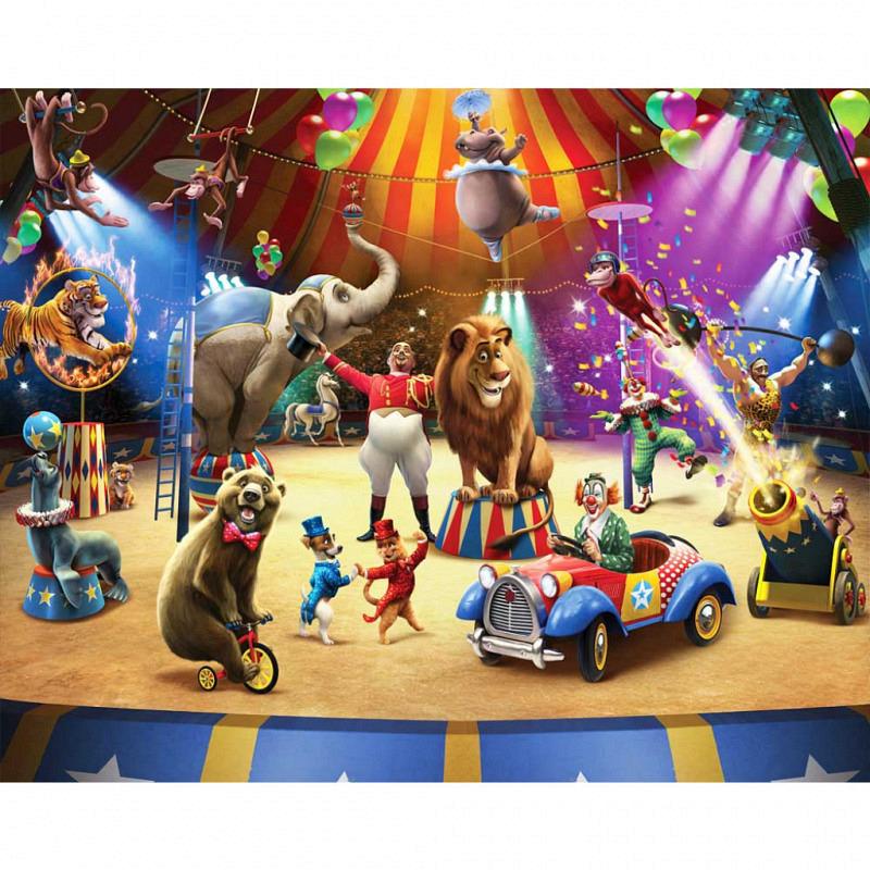 Fototapete Kinderzimmer Zirkus Tiere Manege