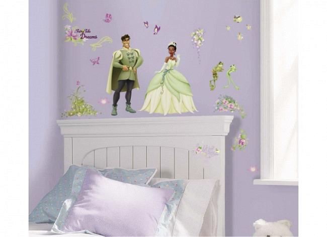 Wandtattoo Disney Prinzessin Tiana Küss den Frosch