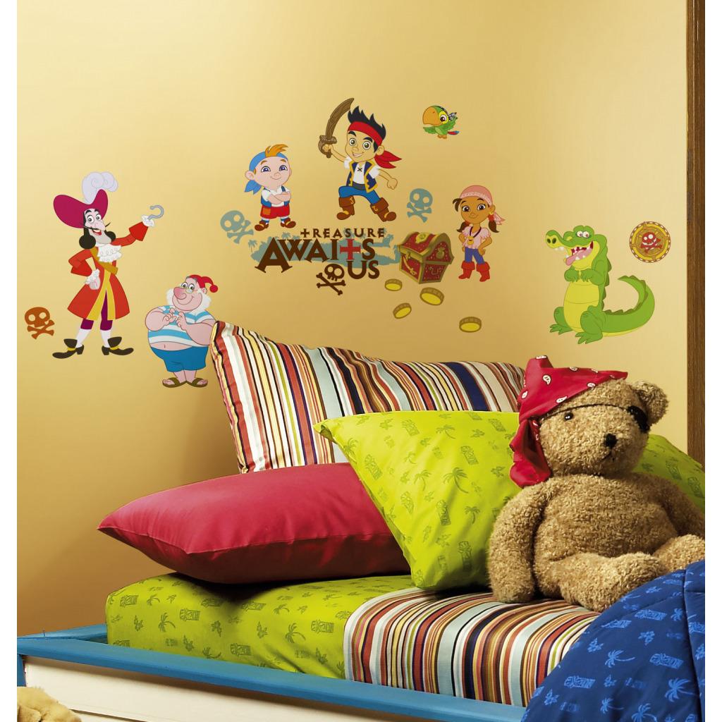 wandsticker kinderzimmer jake nimmerland piraten kapit n hook schatzsuche baby ebay. Black Bedroom Furniture Sets. Home Design Ideas