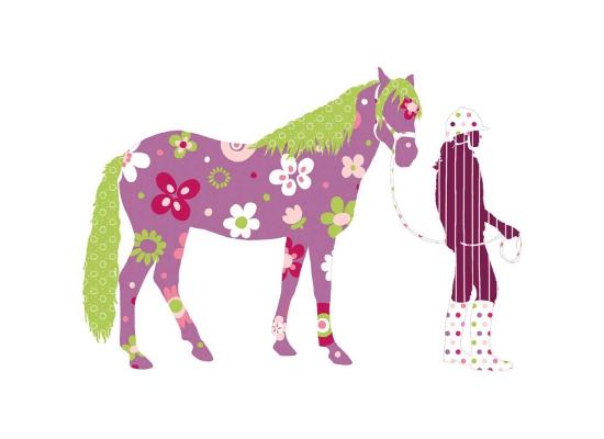 RoomMates Wandtattoo Wandaufkleber Wandbild Wandsticker Mega Pack Pferd Reiterin