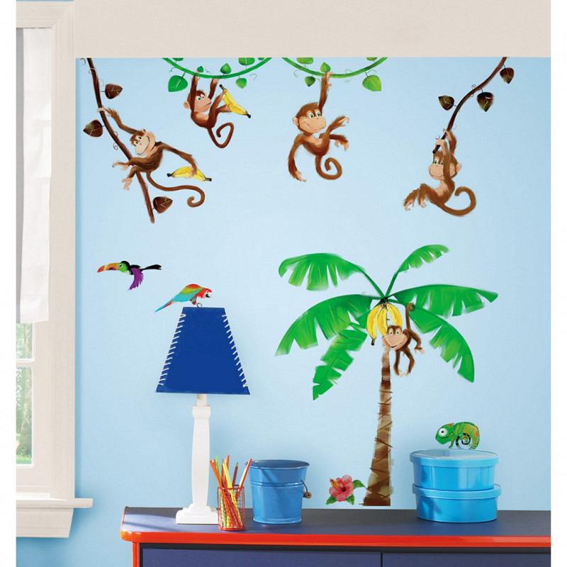 RoomMates Wandsticker Wandtattoo Monkey's Affen