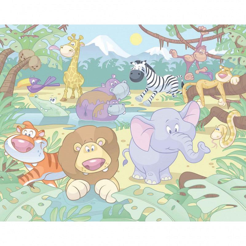 Fototapete Kinderzimmer Baby Dschungel Safari