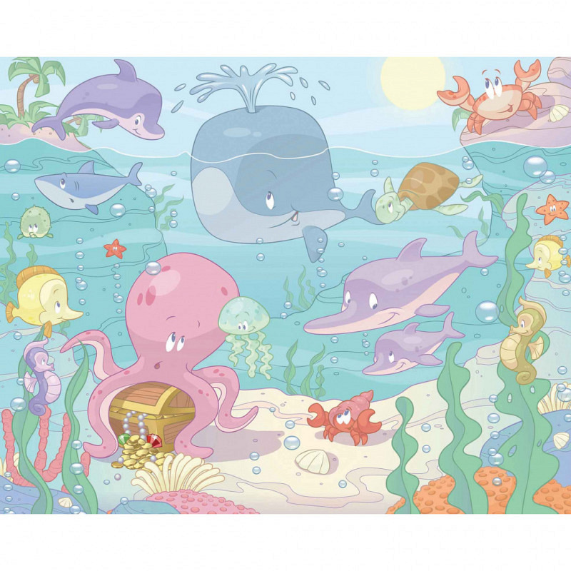 Fototapete Kinderzimmer Wandbild Baby Fische
