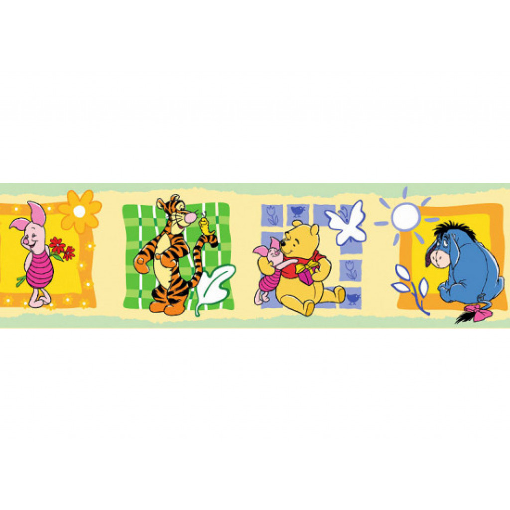 Kinderzimmer Tapeten Winnie Pooh : Kinderzimmer Tapeten Bord?re Winnie Pooh Tigger Eyore (3,00?/lfm