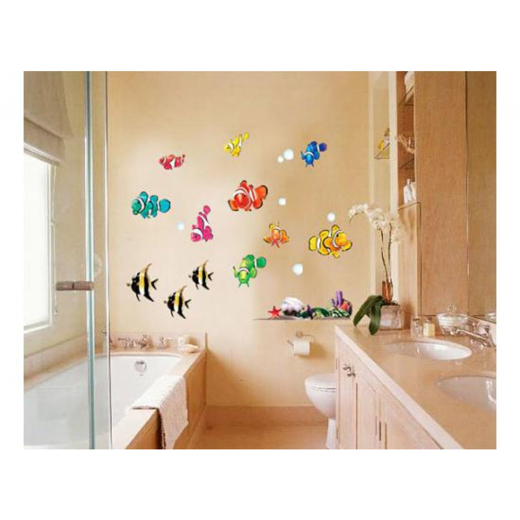 wandsticker wandtattoo unterwasserwelt clownfische bad fliesen deko ebay. Black Bedroom Furniture Sets. Home Design Ideas