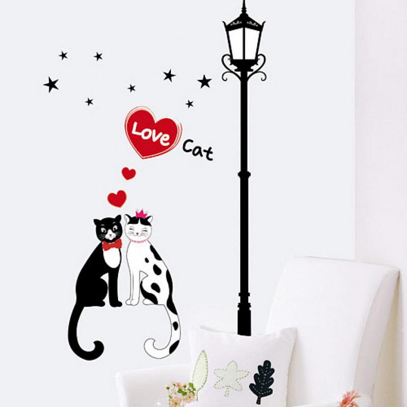 Wandsticker Katze Katzenliebe
