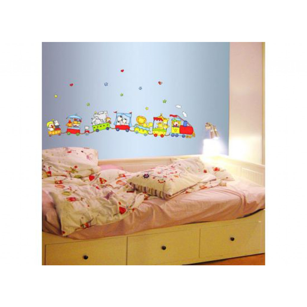 wandsticker zirkustiere eisenbahn zug wandsticker kinderzimmer. Black Bedroom Furniture Sets. Home Design Ideas