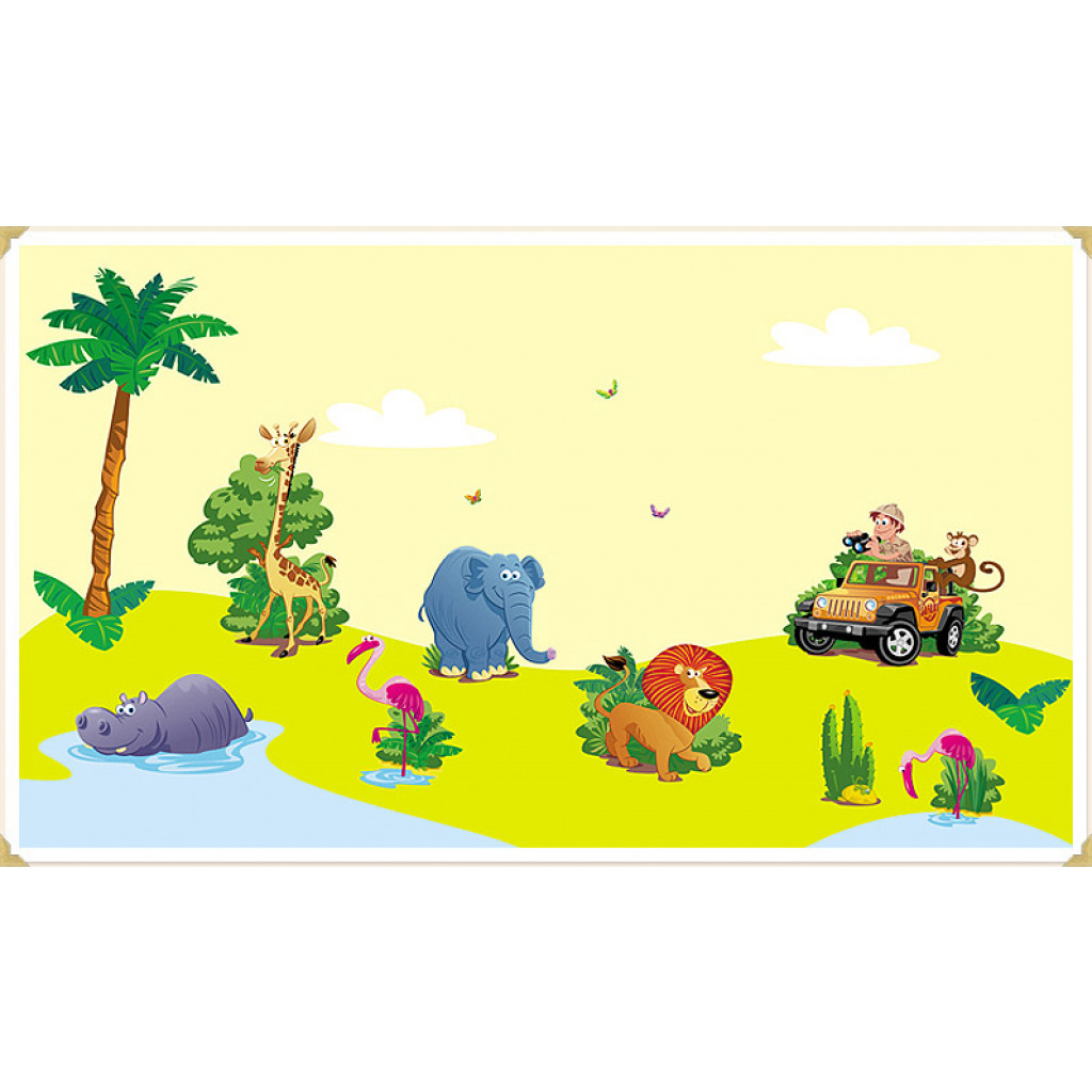 Wandsticker Set Kinderzimmer Dschungel-Safari