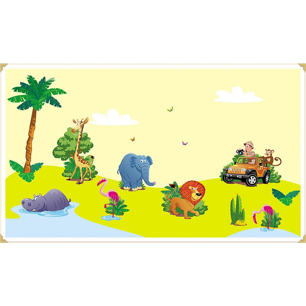 Wanddekoration Kinderzimmer Wandaufkleber Dschungel Safari