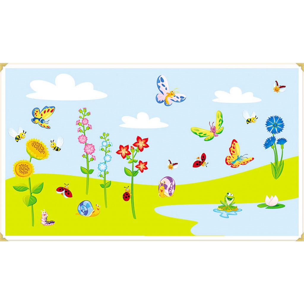 Wanddekoration Kinderzimmer Wandaufkleber Schmetterlingswiese