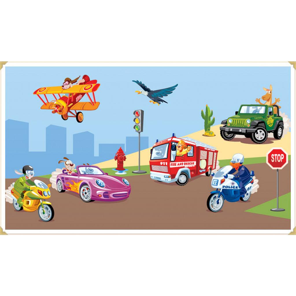 Wanddekoration Kinderzimmer Wandaufkleber Auto Straße Verkehr